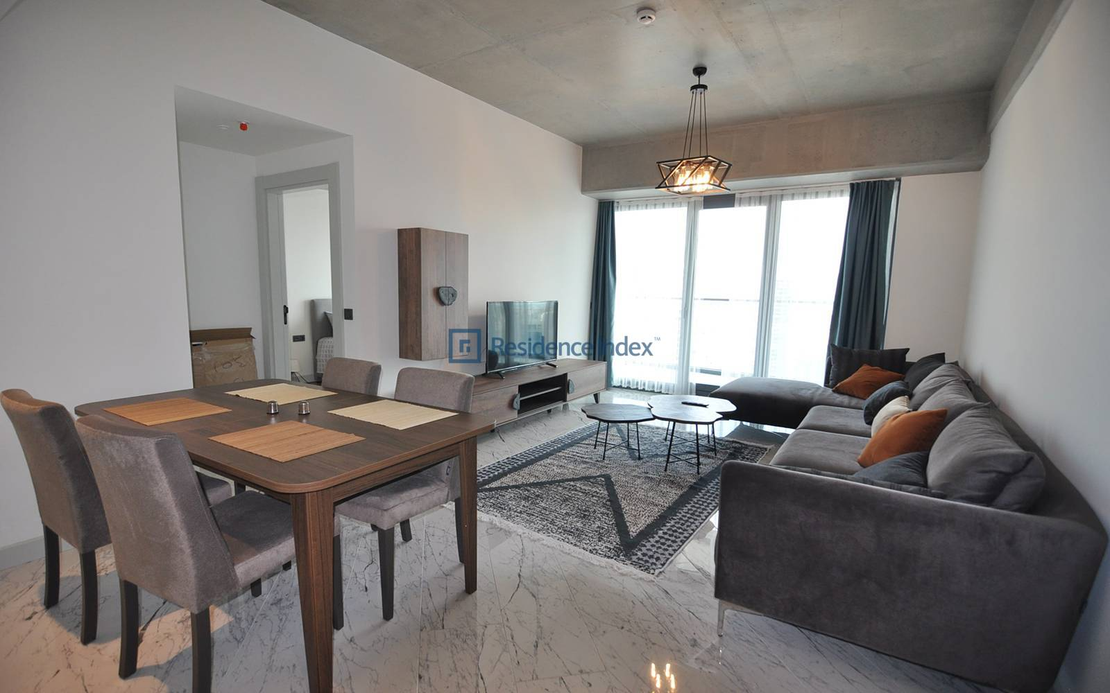 1+1 Corner Large Type Luxury Furnished Flat for Rent