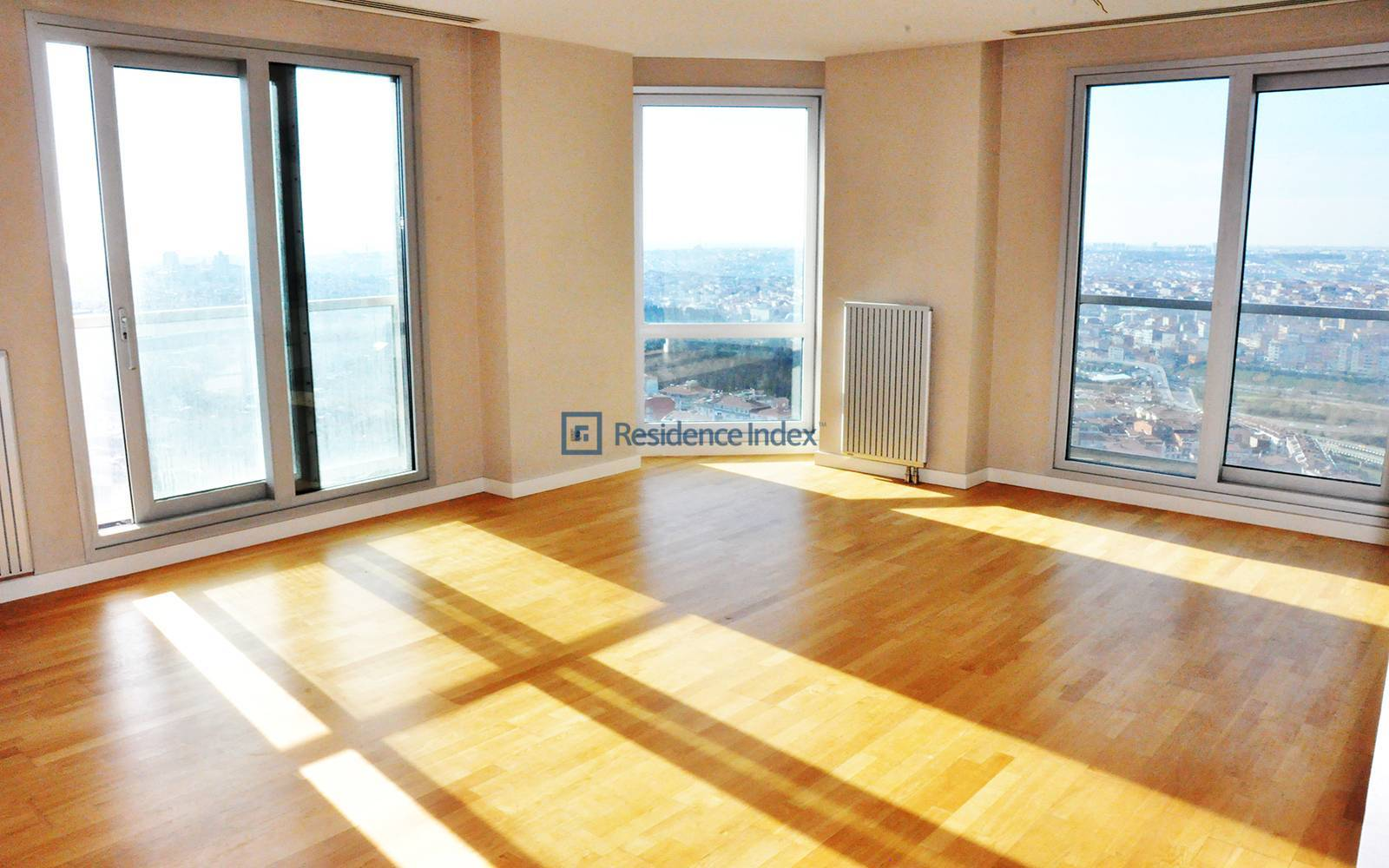 2 + 1 Corner Apartment For Sale with Bosphorus View
