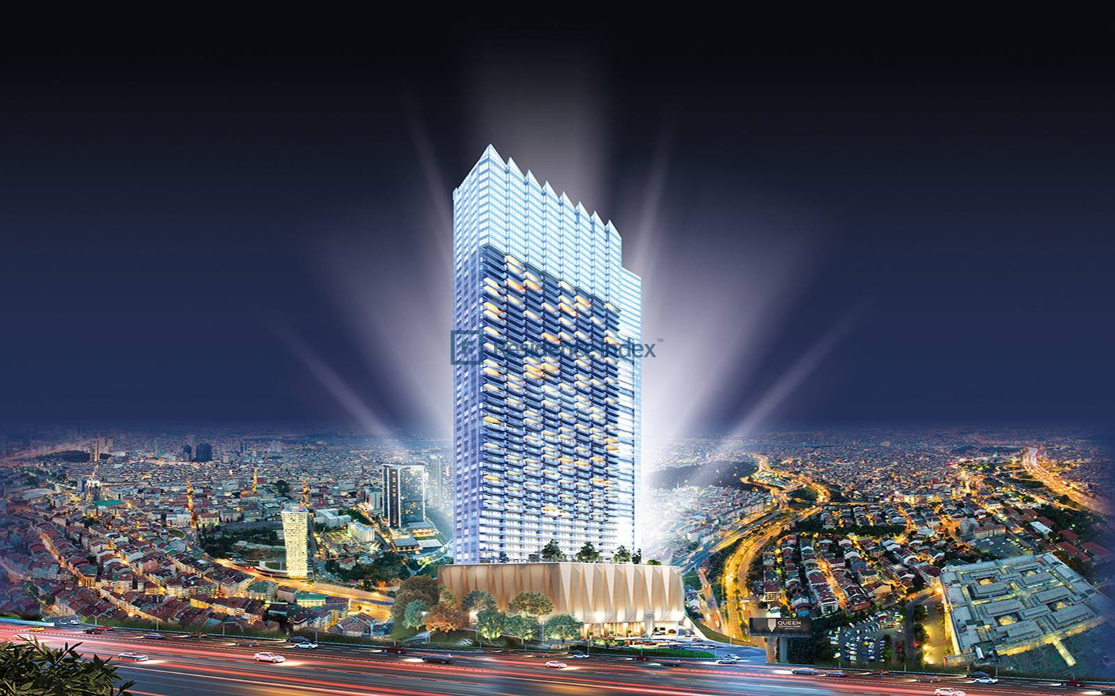 Sinpaş Queen Central Park - 1+1 Flat for Rent with High Floor View Luxury Furnished