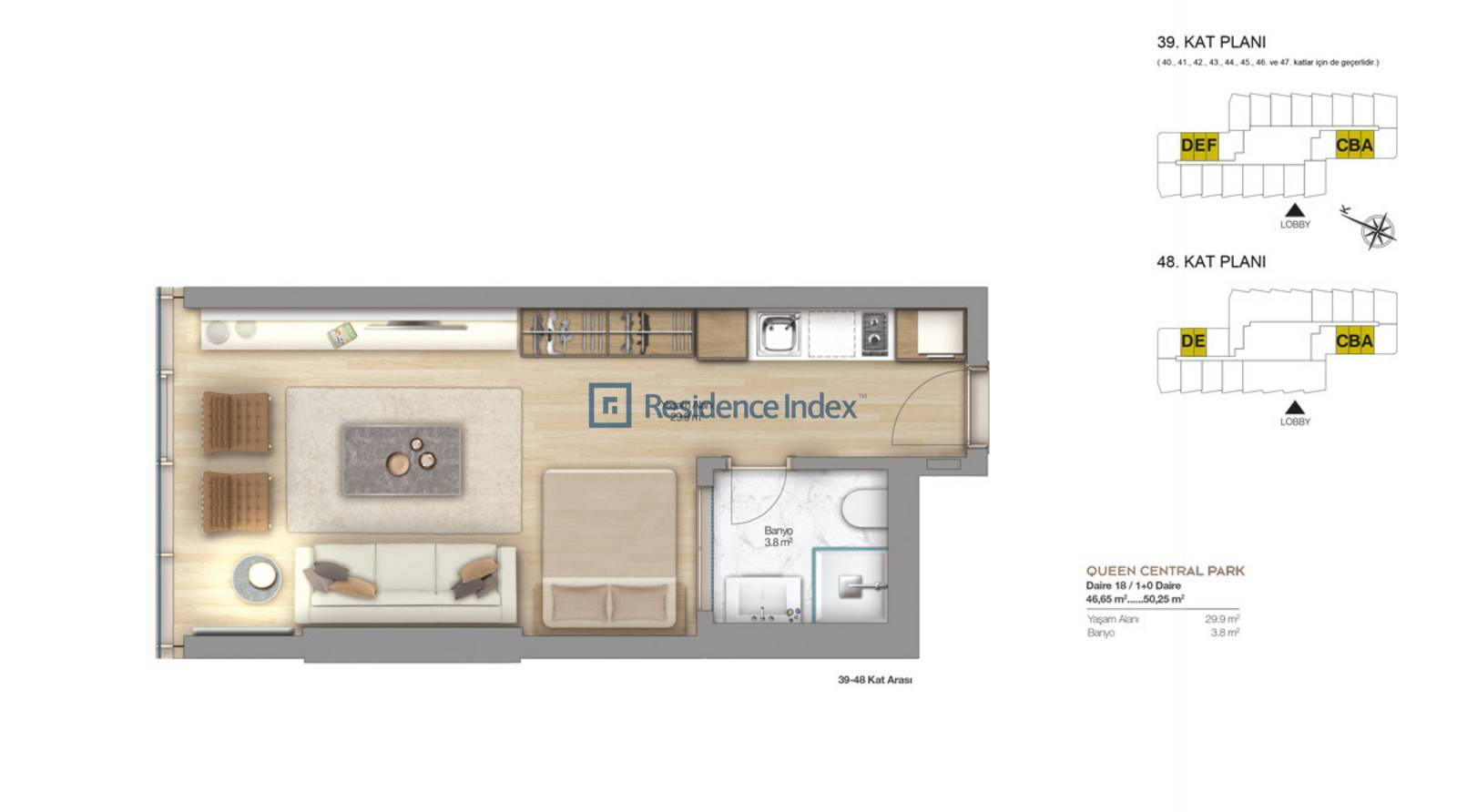Apartment for Sale 1 + 0 opportunity
