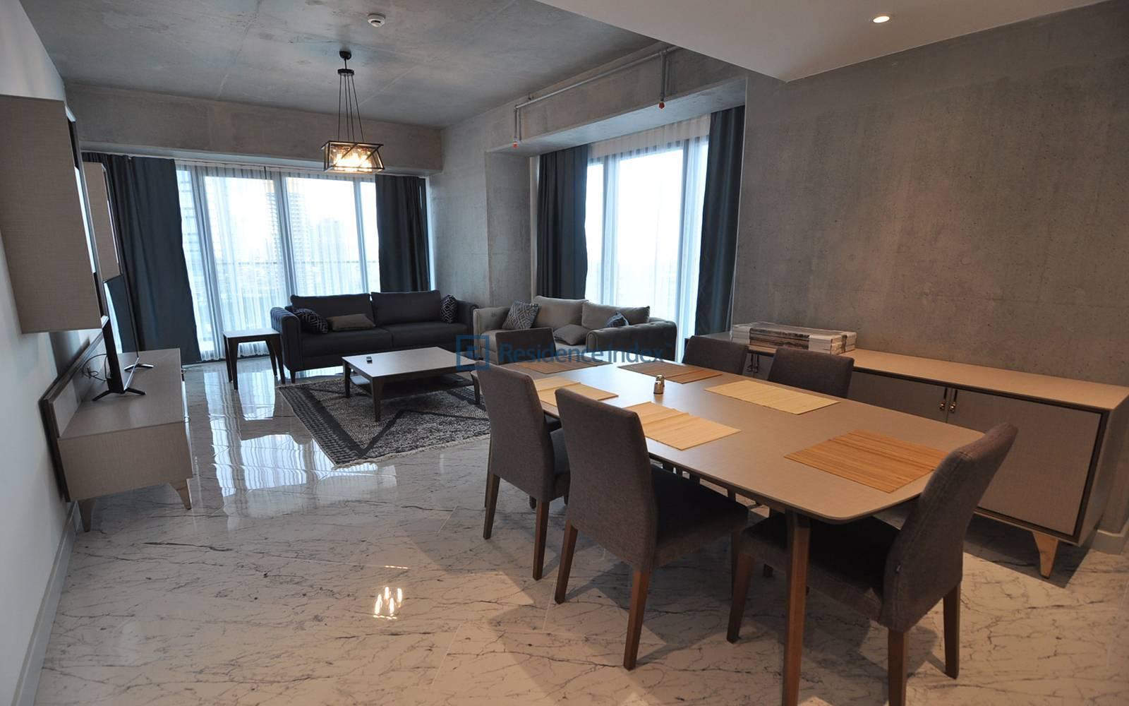 1+1 Furnished Corner Large Type Flat for Rent
