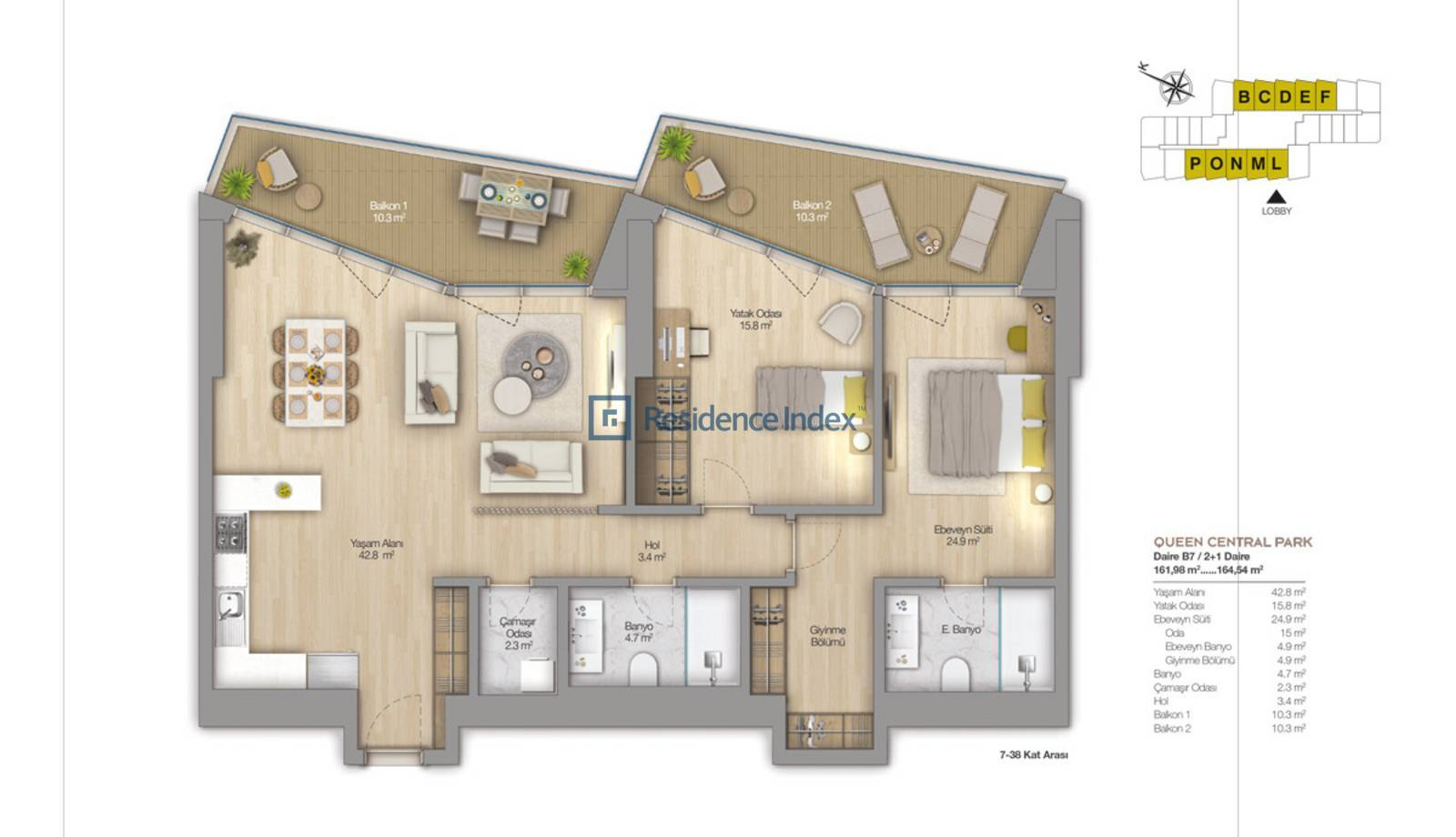 2,5+1 Flat For Sale