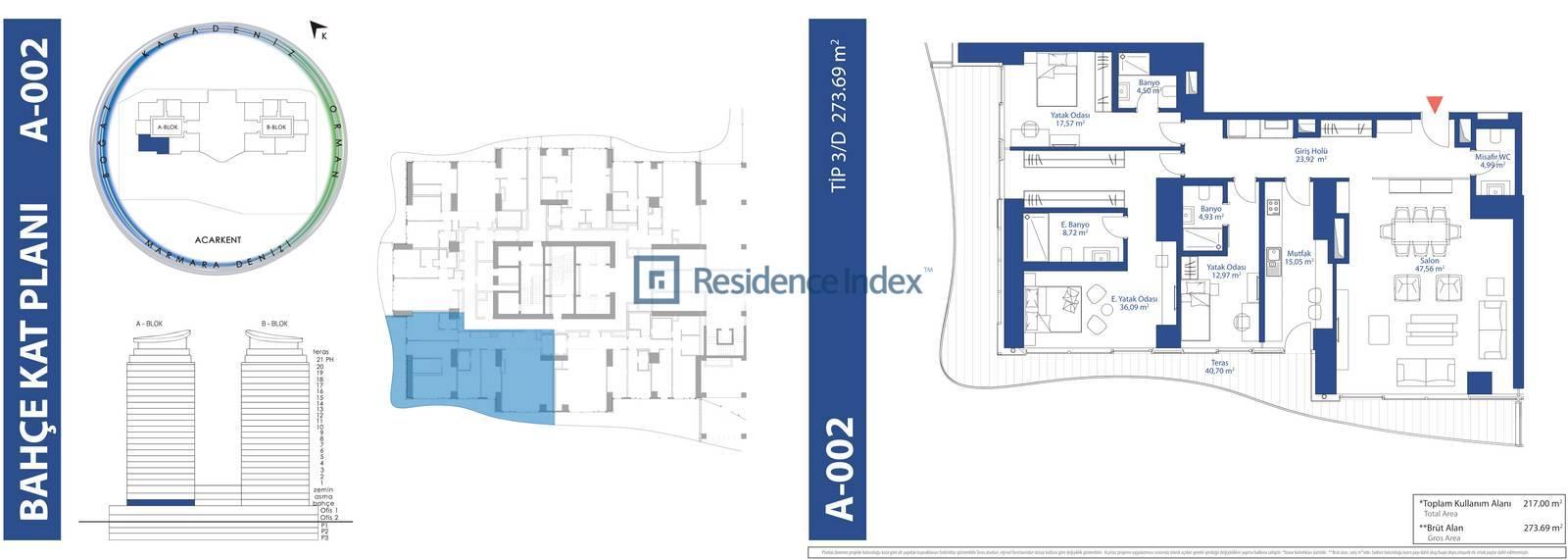 AcarBlu Residence Tip 3D