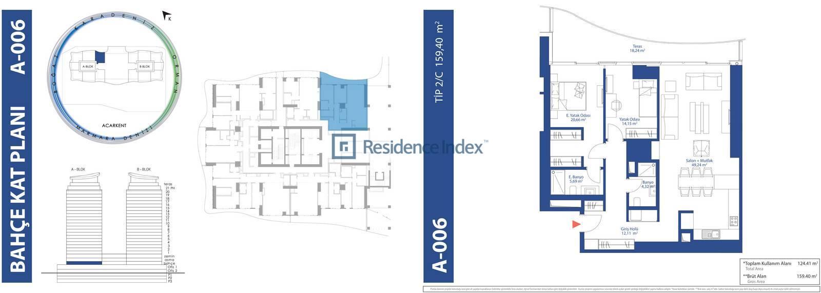 AcarBlu Residence Tip 2C