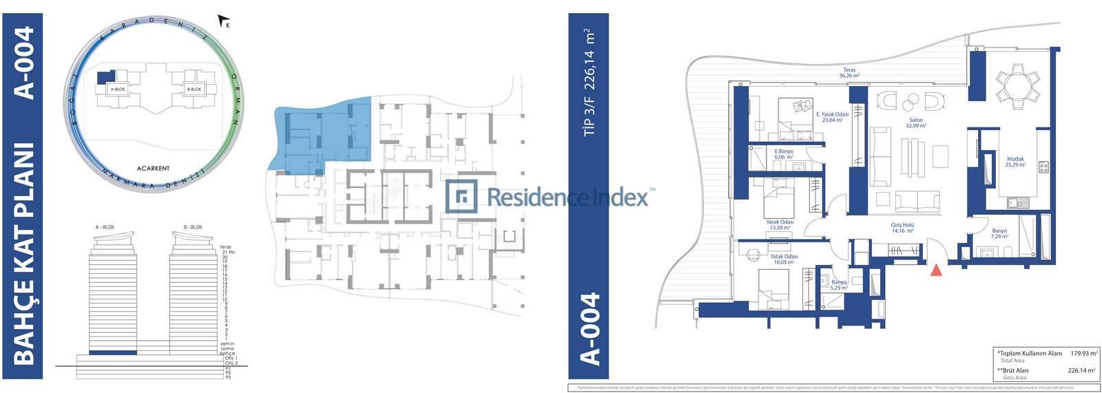 AcarBlu Residence Tip 3F
