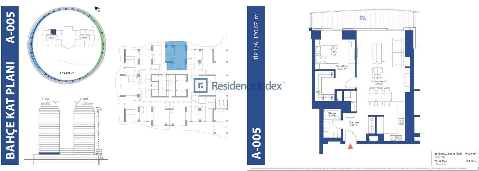 AcarBlu Residence Tip 1A