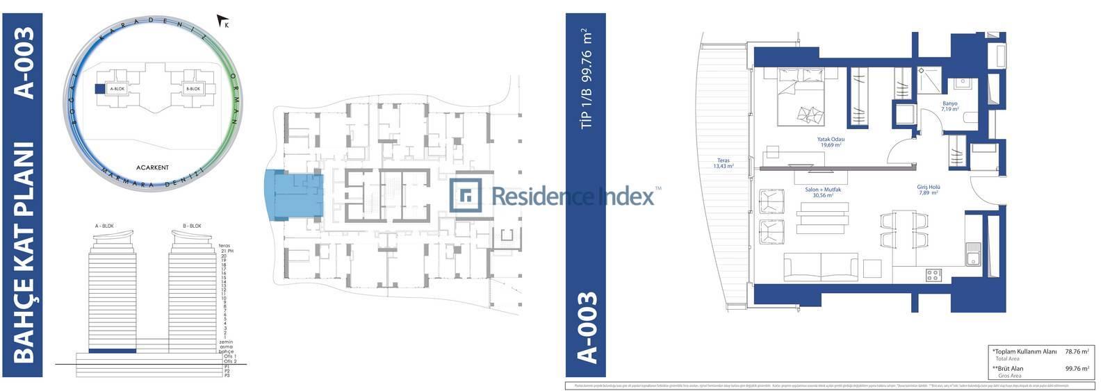 AcarBlu Residence Tip 1B