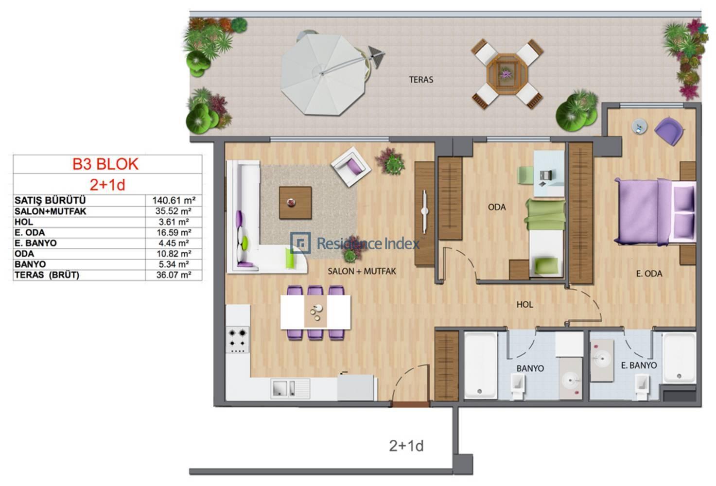 Maslak My Home B3-D