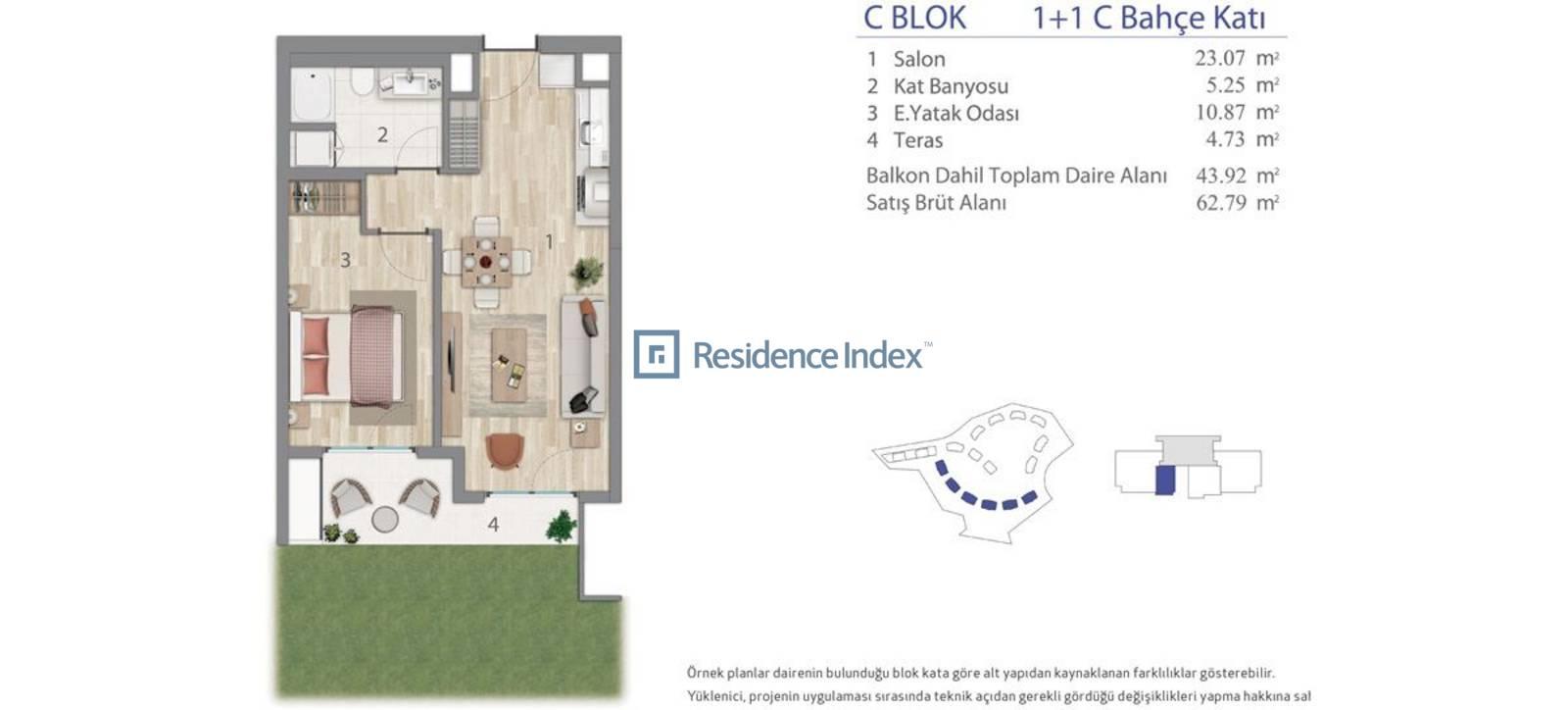 5.LEVENT C Blok Bahçe Katı C