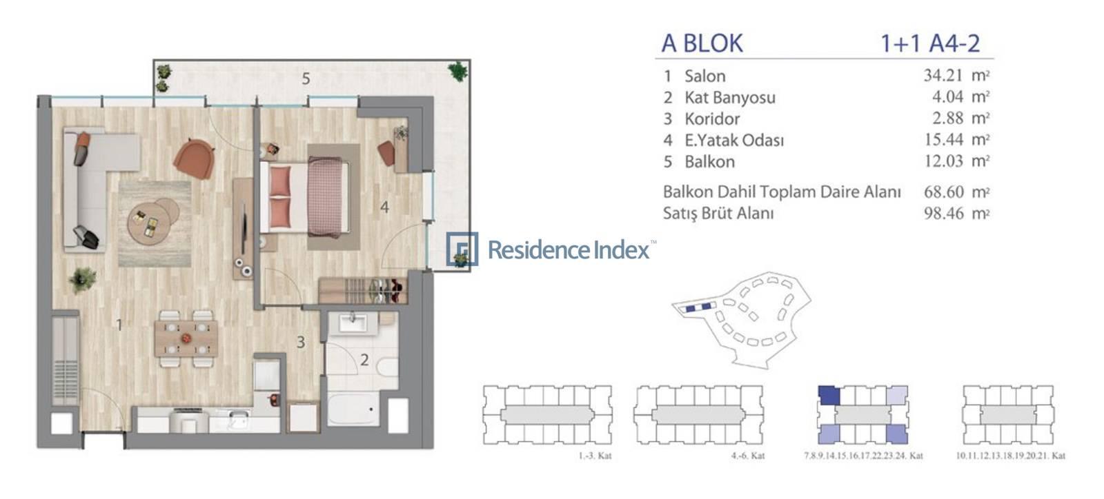 5.LEVENT A Blok A4-2