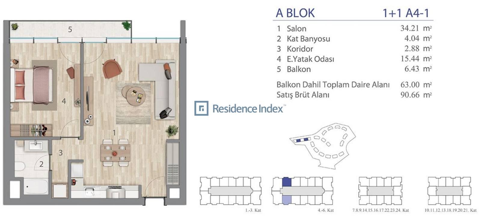 5.LEVENT A Blok A4-1