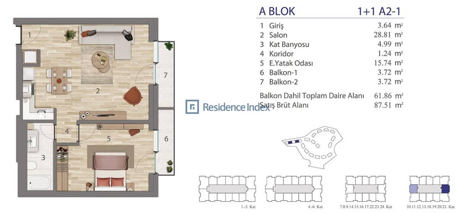 5.LEVENT A Blok A2-1