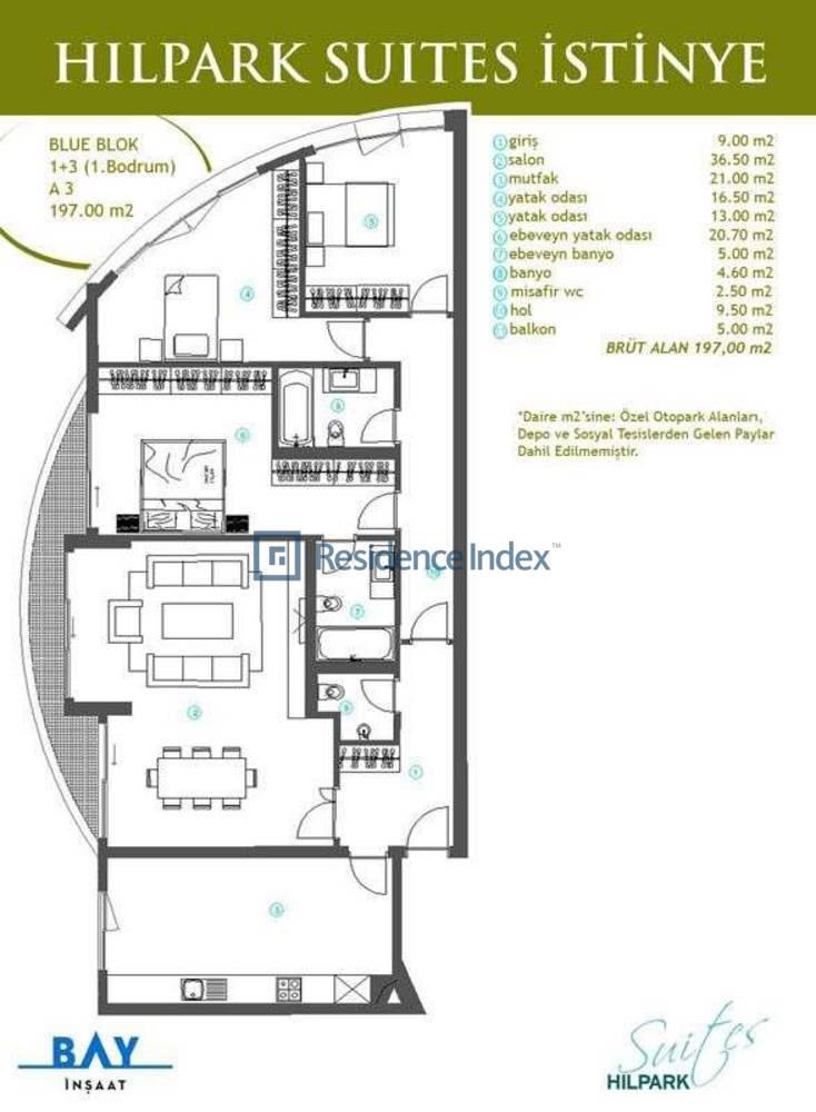Hilpark Suites İstinye A3