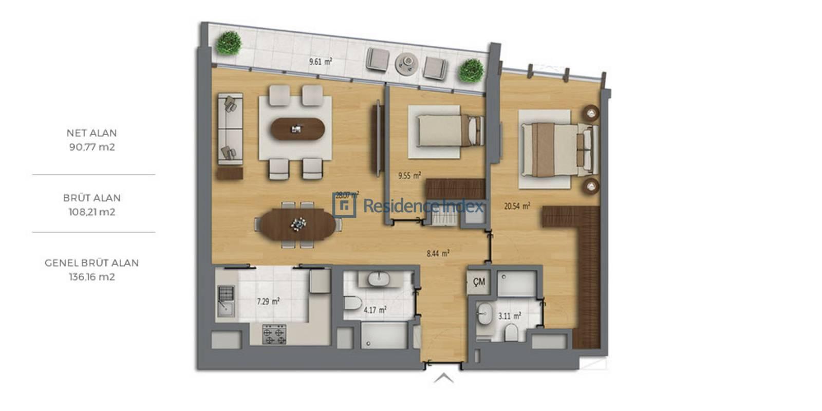 Bomonti Residences By Rotana B1