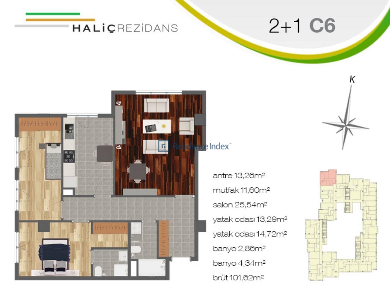 Haliç Rezidans C6
