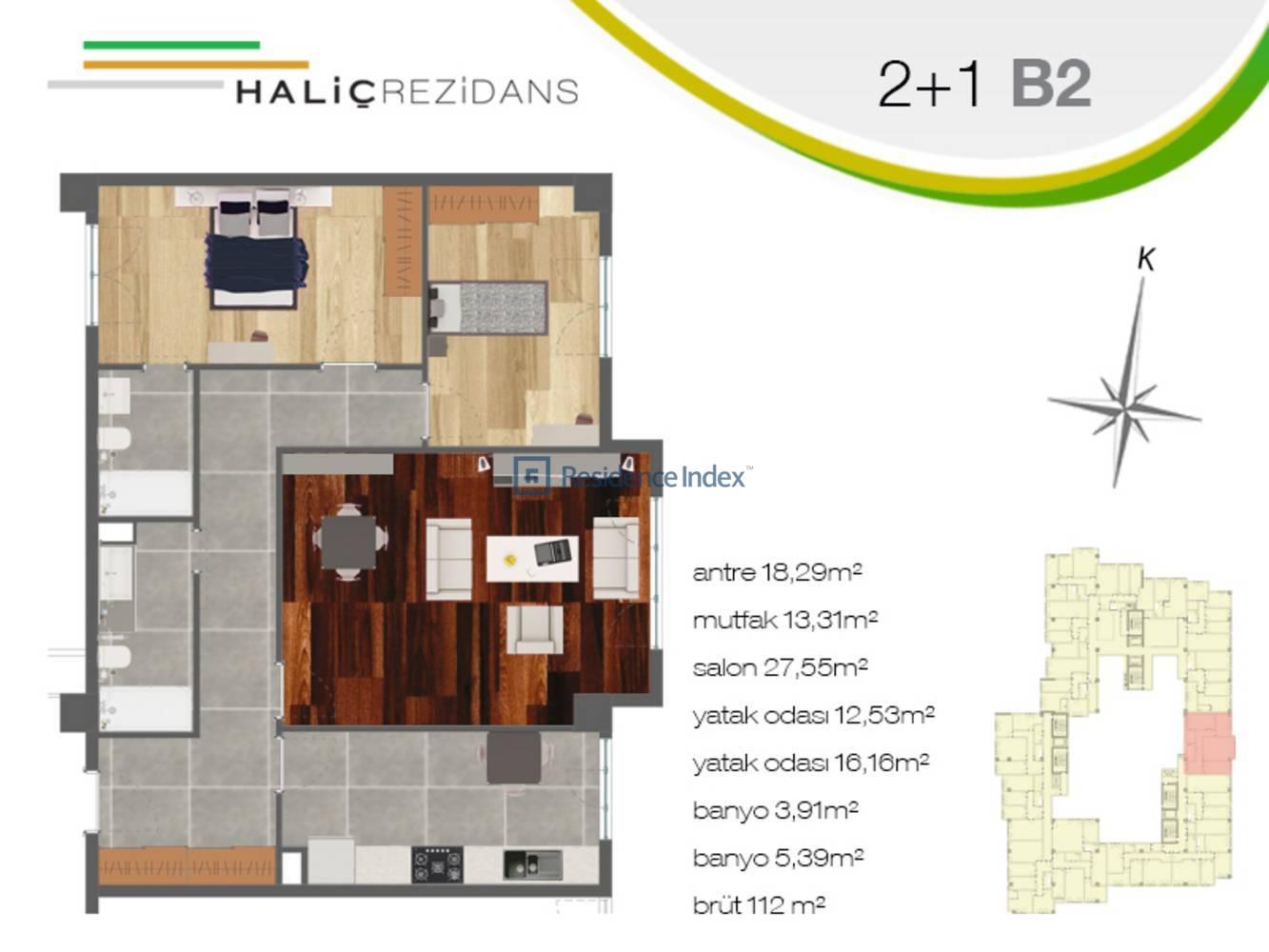 Haliç Rezidans B2