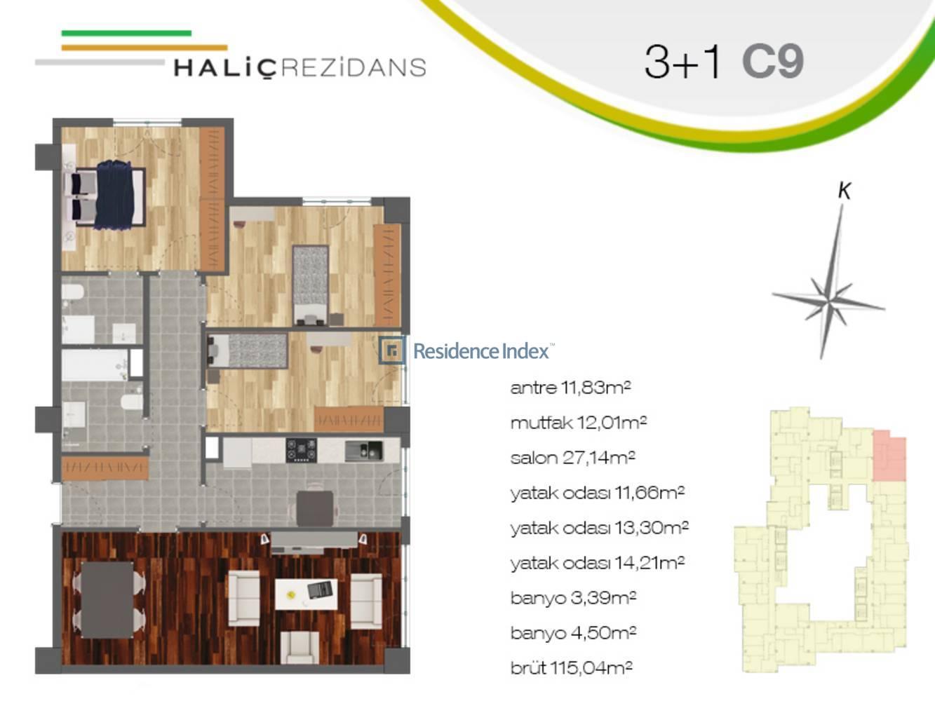 Haliç Rezidans C9