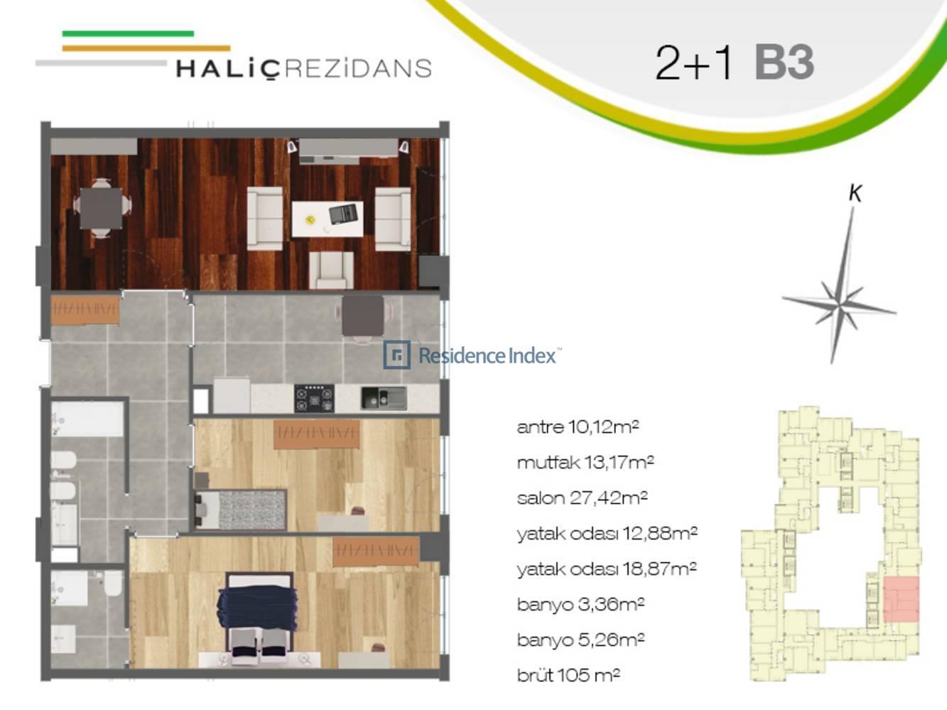 Haliç Rezidans B3