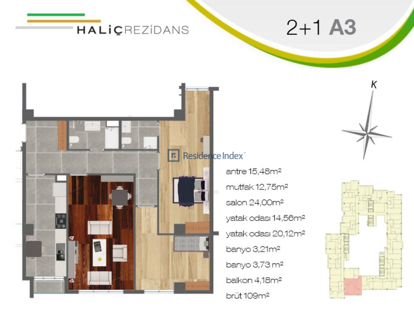 Haliç Rezidans A3