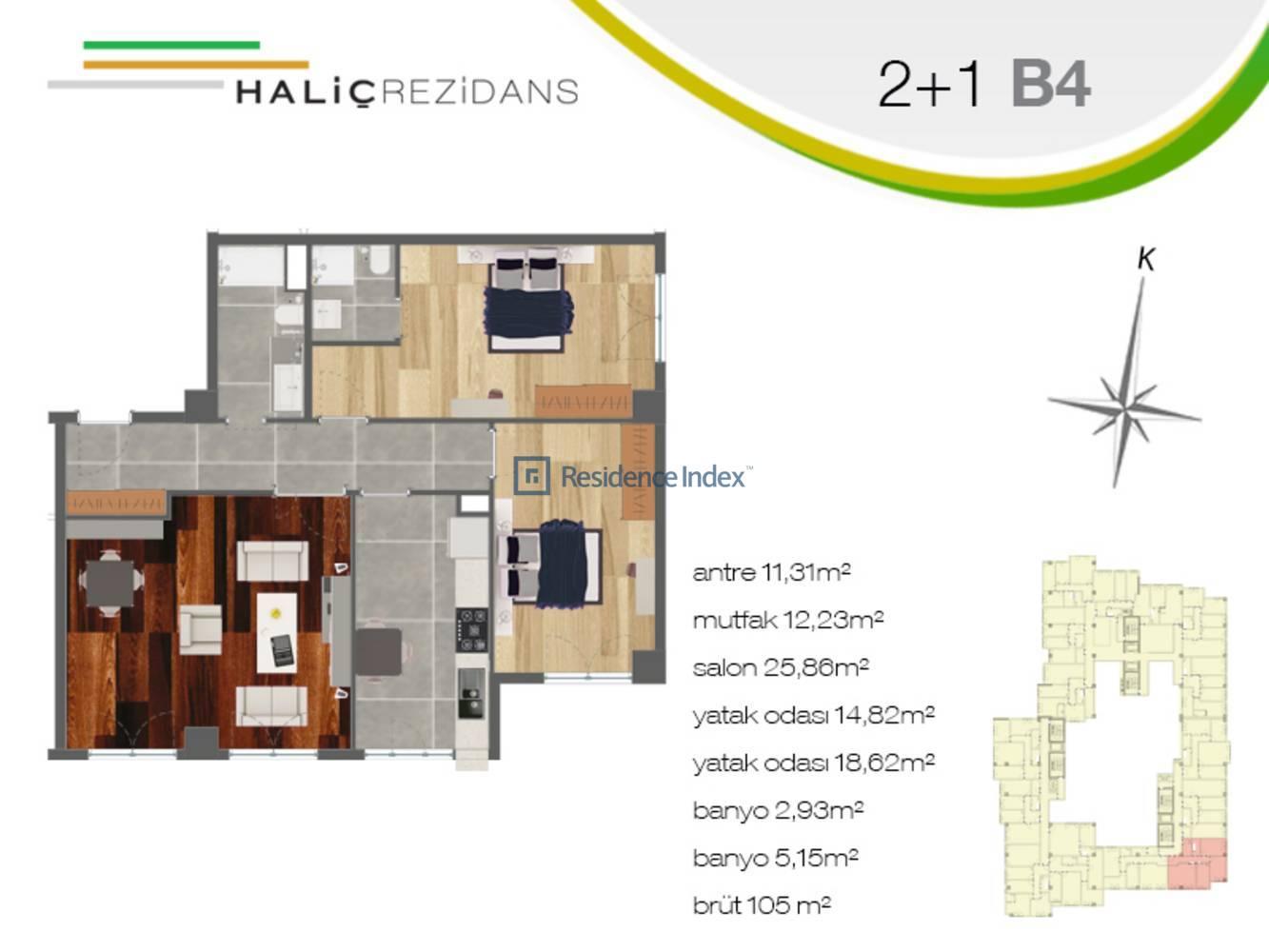 Haliç Rezidans B4