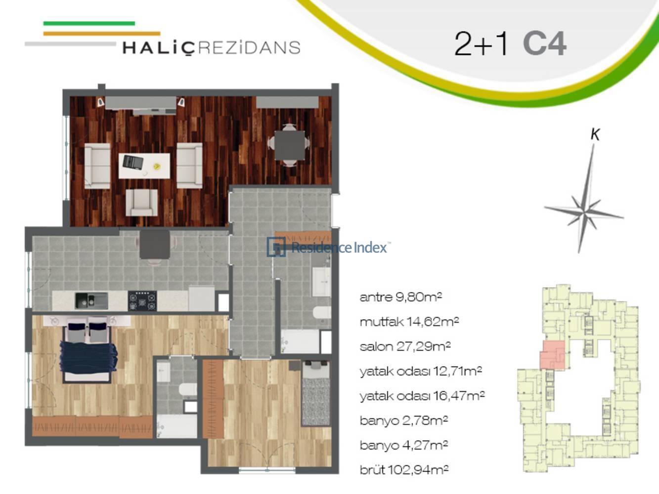 Haliç Rezidans C4