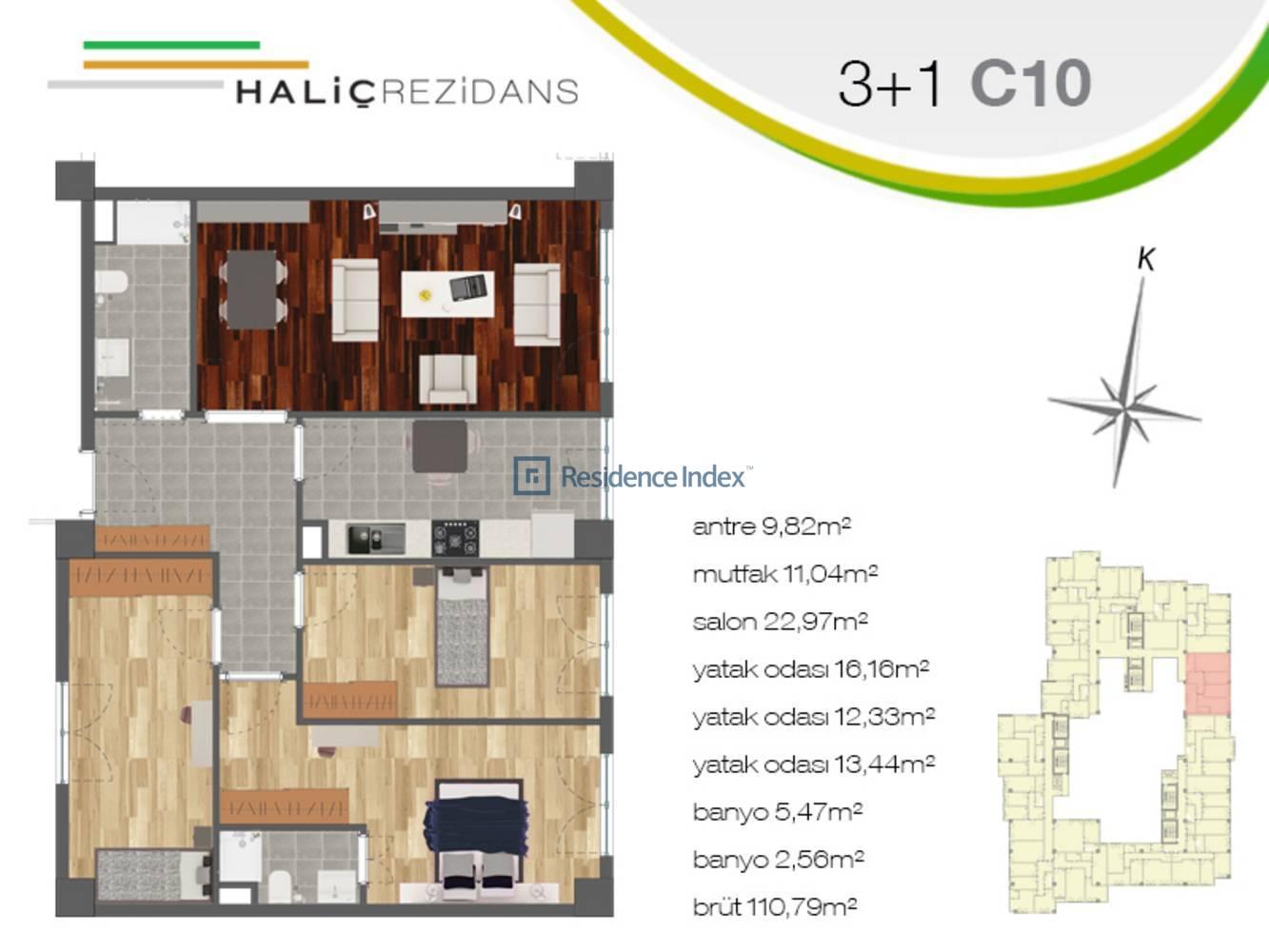 Haliç Rezidans C10