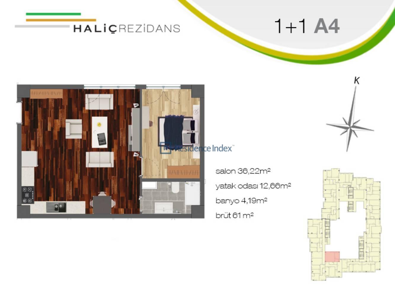 Haliç Rezidans A4