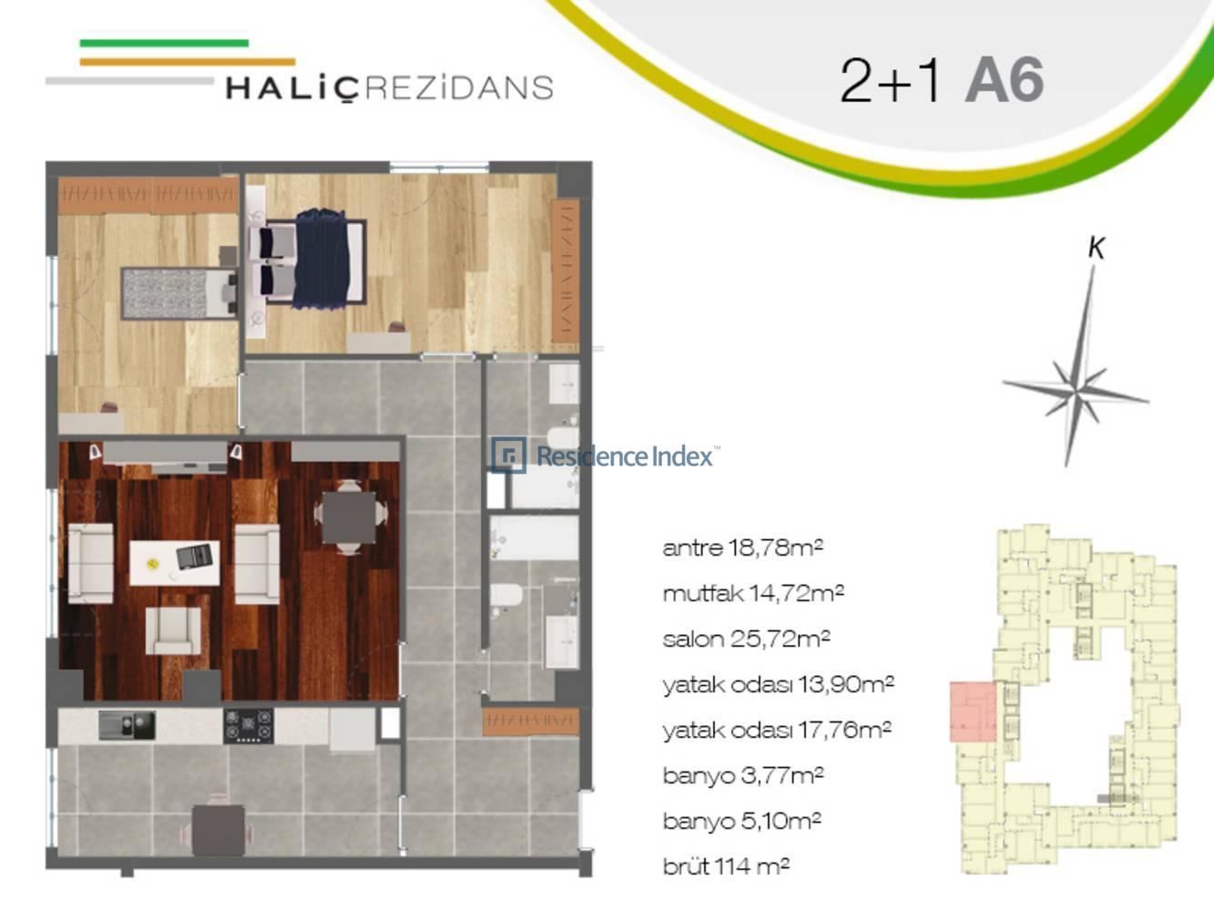Haliç Rezidans A6
