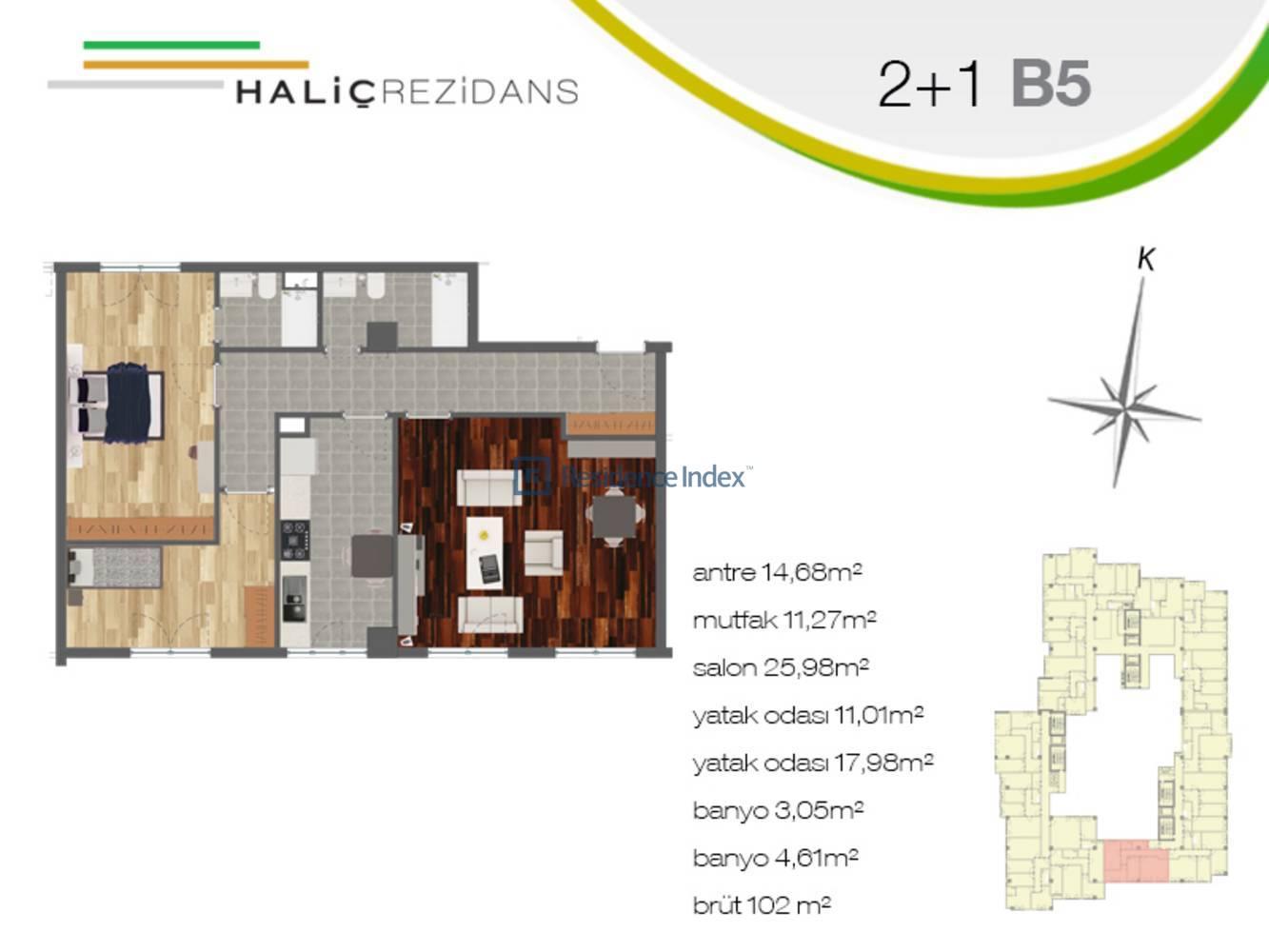 Haliç Rezidans B5