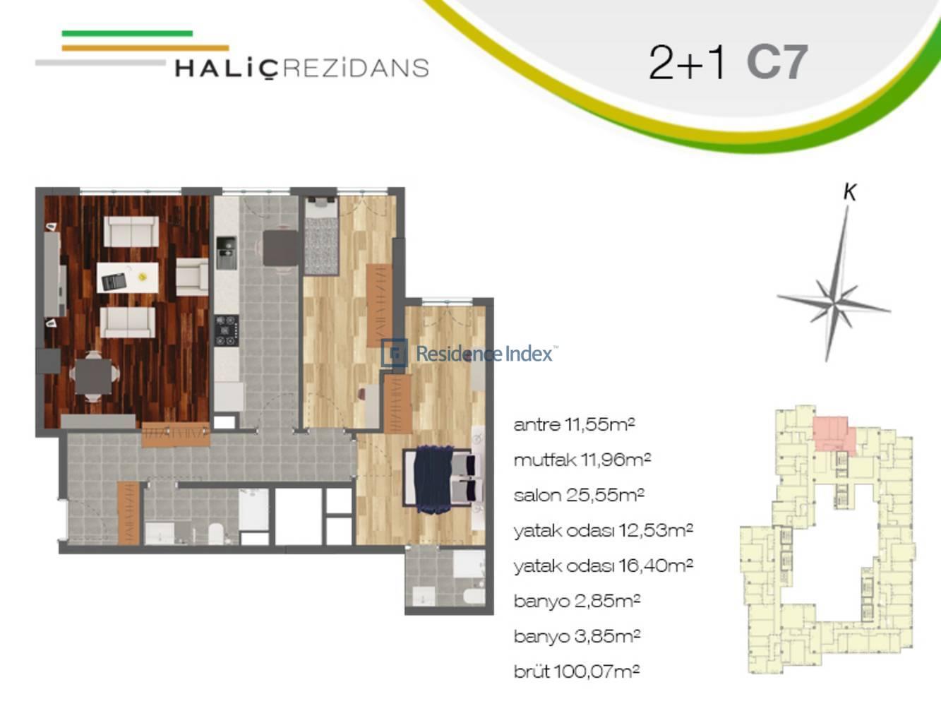 Haliç Rezidans C7