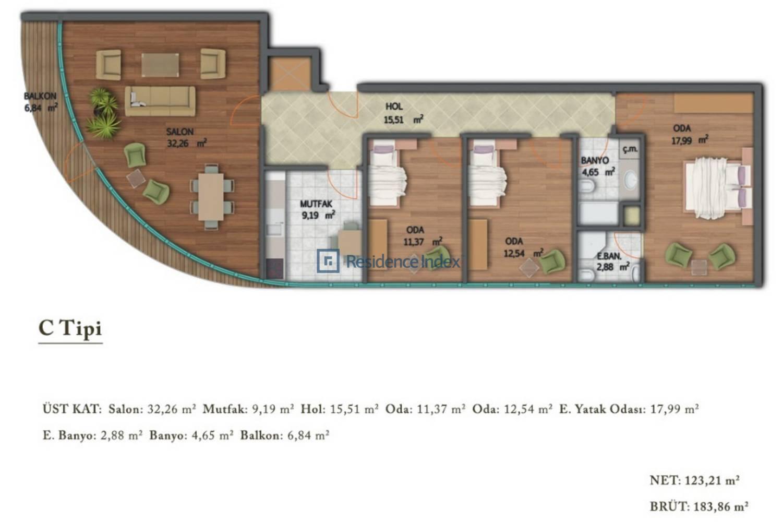Ark Residence Güneşli C Tipi