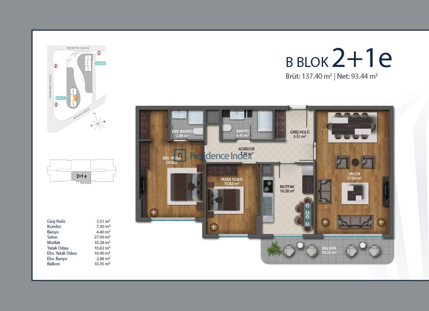 Luxera Meydan B Blok E