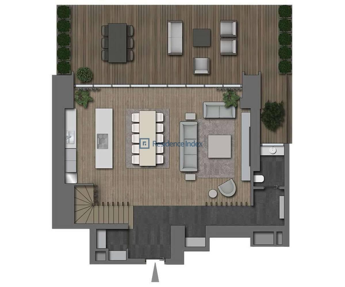 The Ritz Carlton Residences Nişantaşı 2+1 Bahçe Dubleks Alt Kat