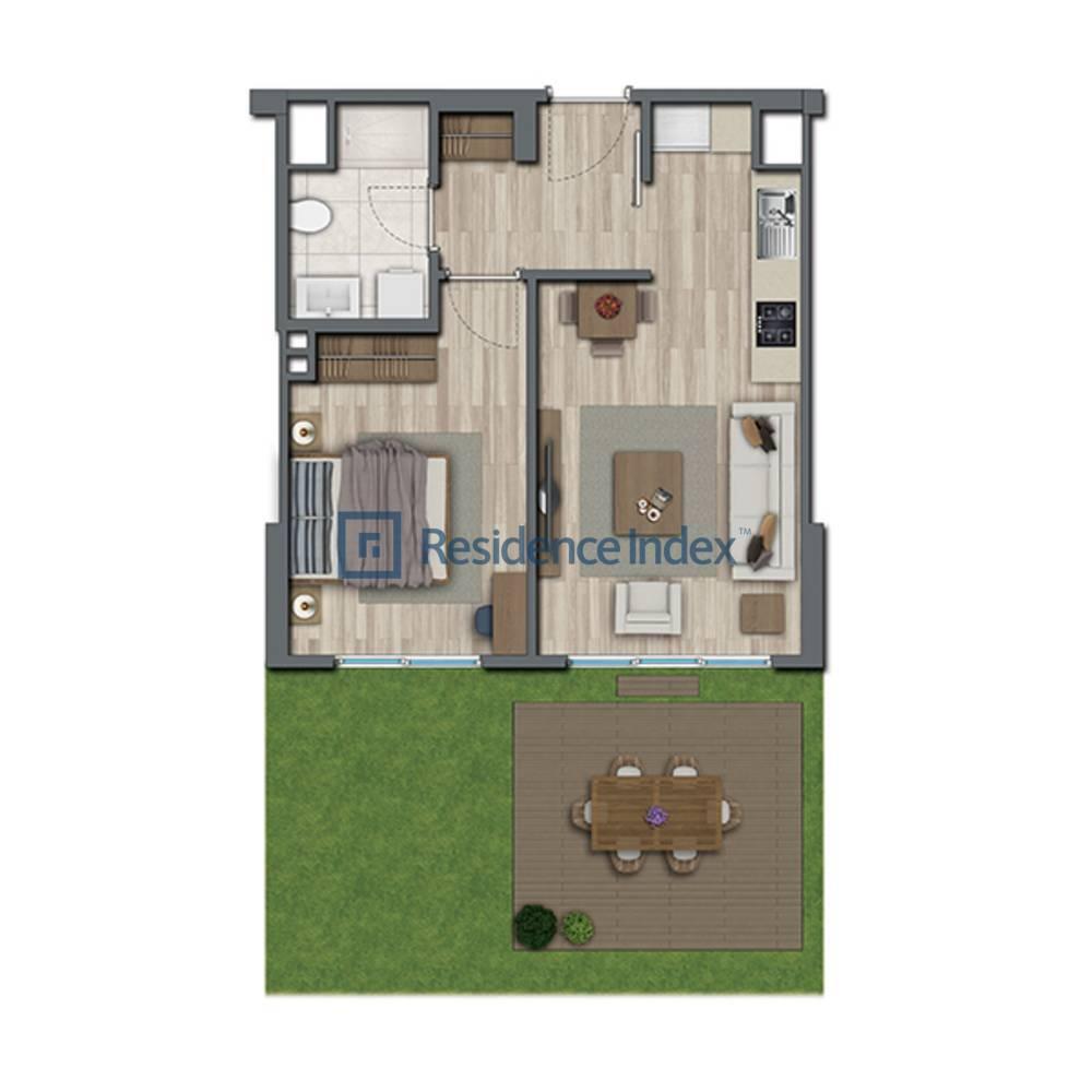 Sur Yapı Topkapı Evleri  B2 Bahçe