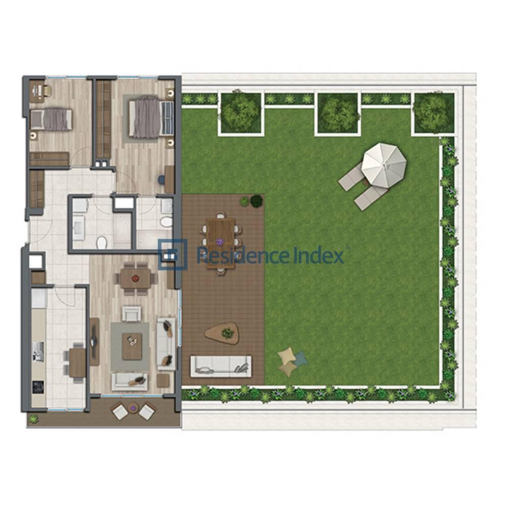 Sur Yapı Topkapı Evleri  A2-Teras-1