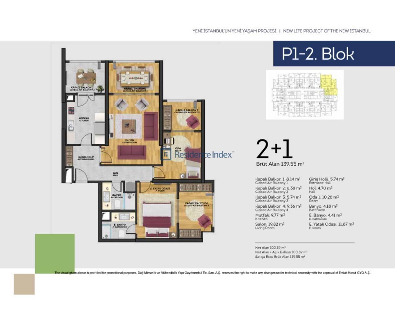 Tual Bahçekent P1-2 Blok