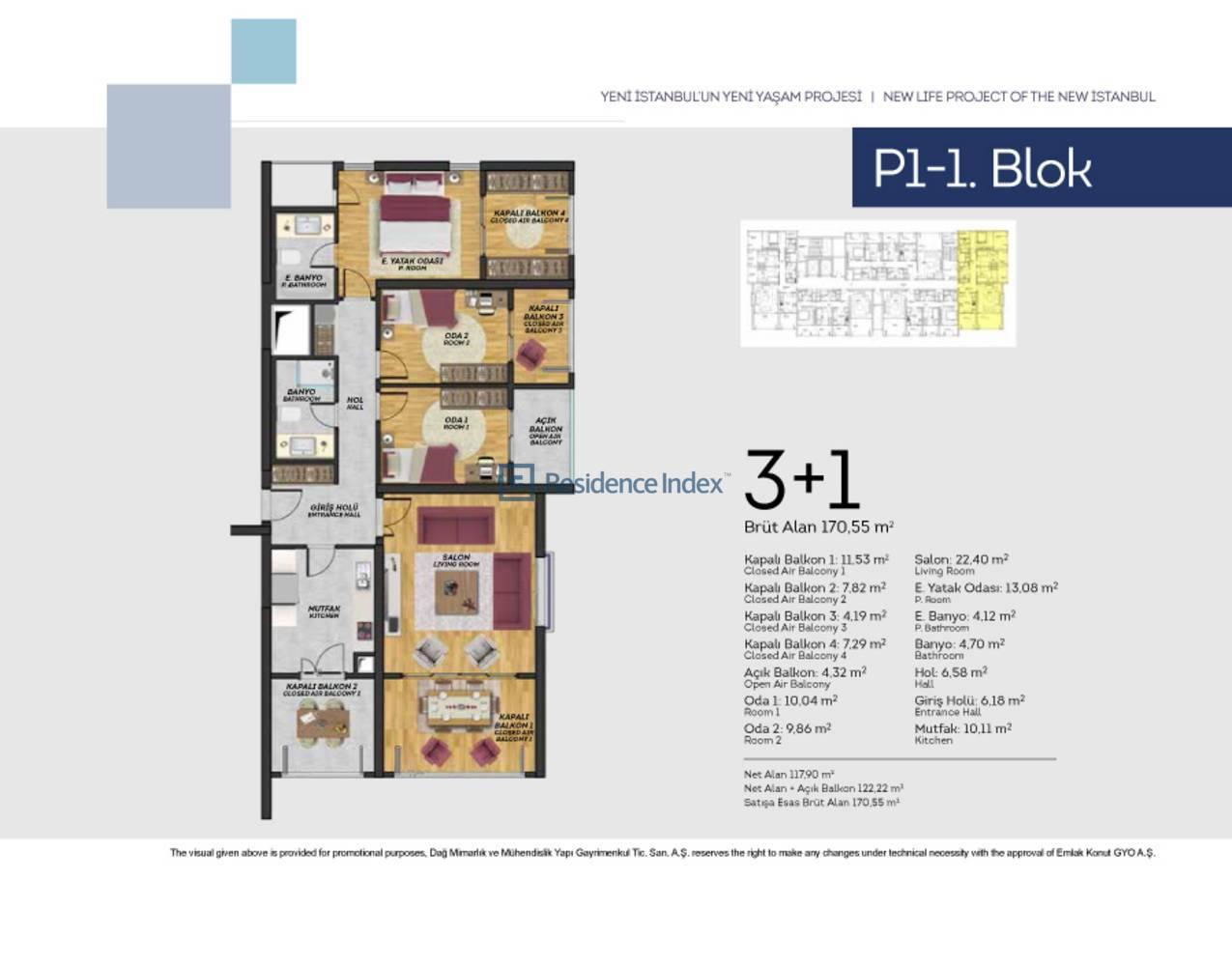Tual Bahçekent P1-1 Blok