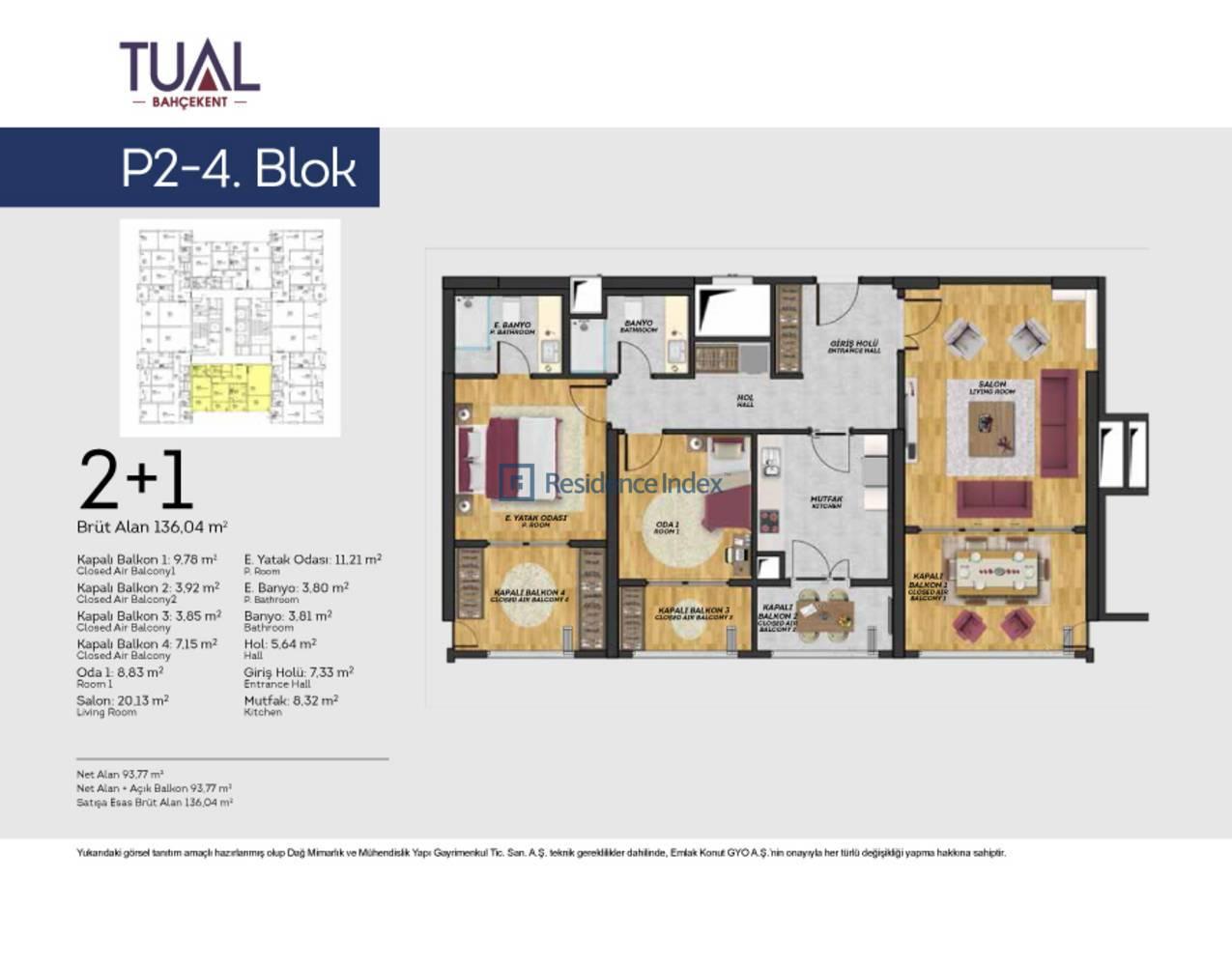 Tual Bahçekent P2-4 Blok