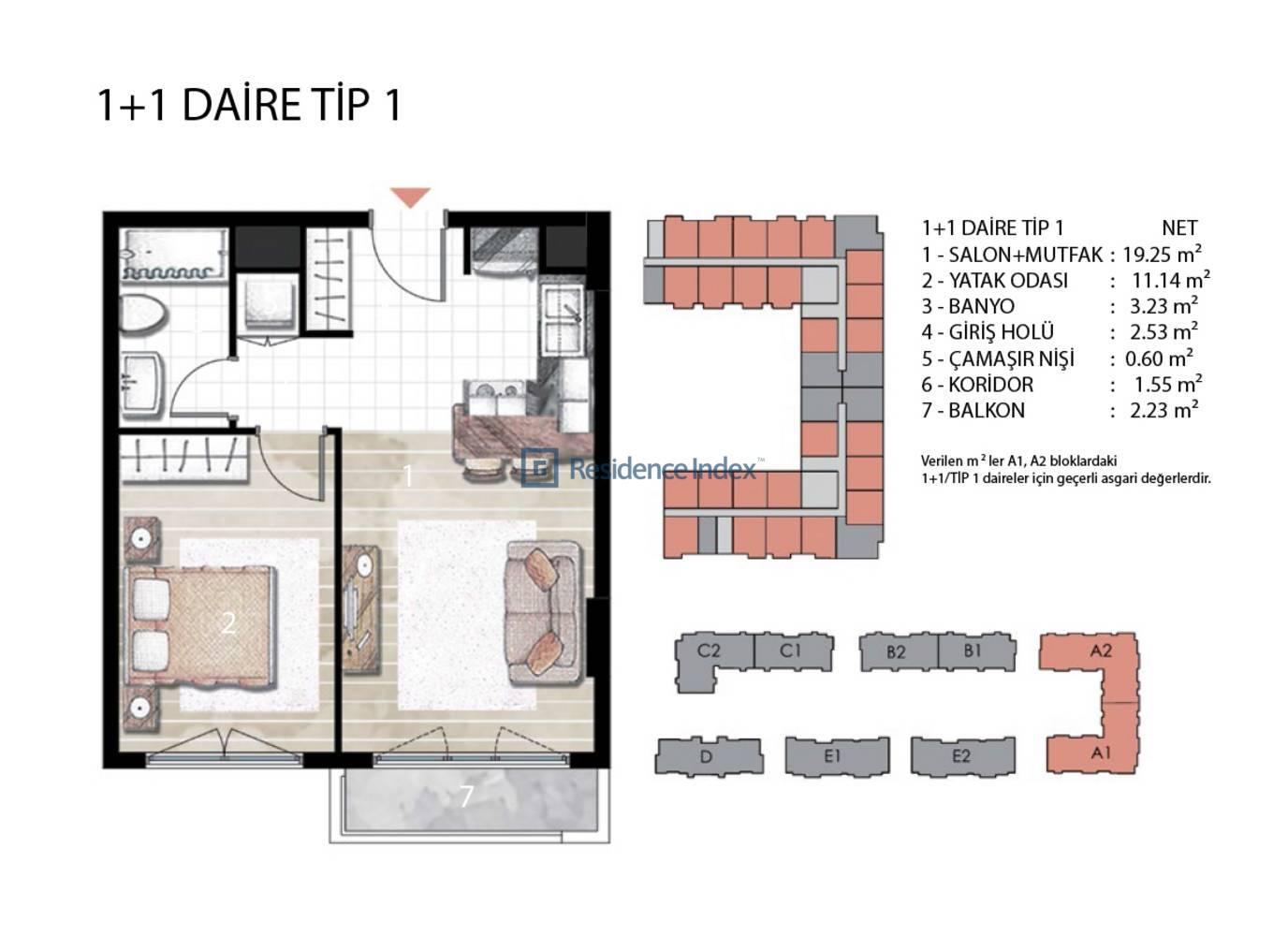 Radius Residence 1+1 Tip