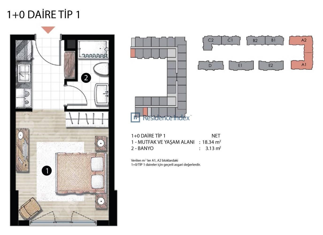 Radius Residence 1+0 Tip 1