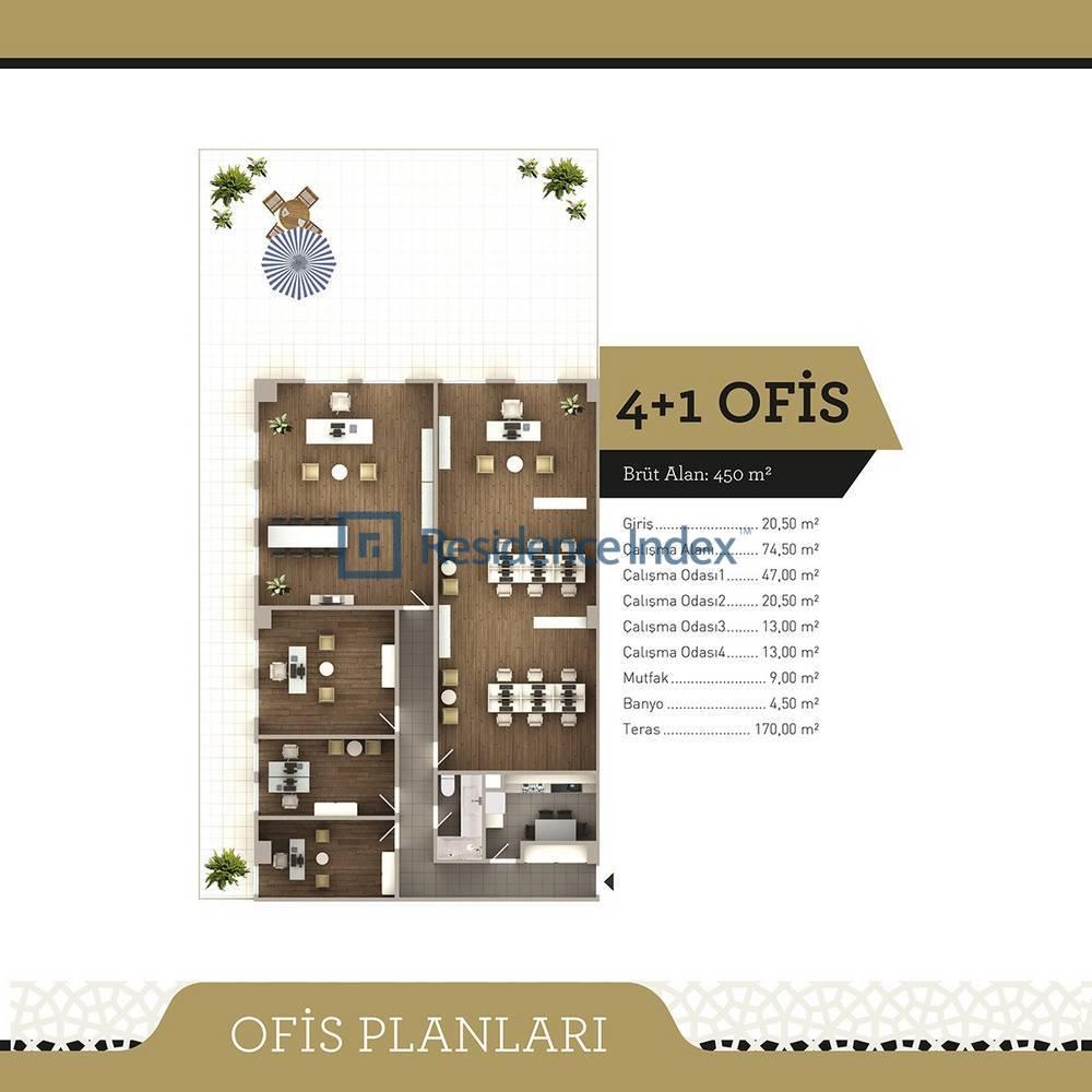 Ncadde Ottoman  4+1 Ofis