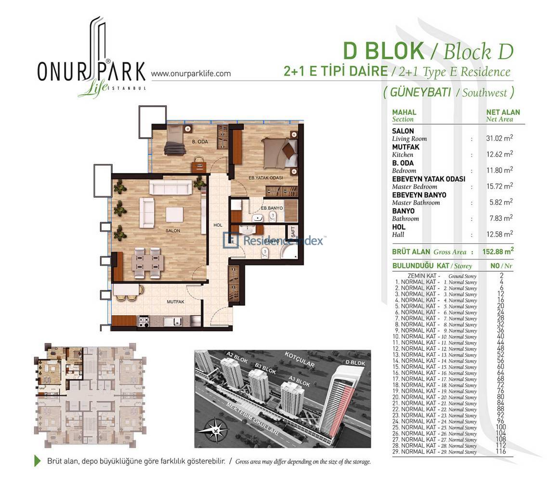 Onur Park Life D BL.E Tipi