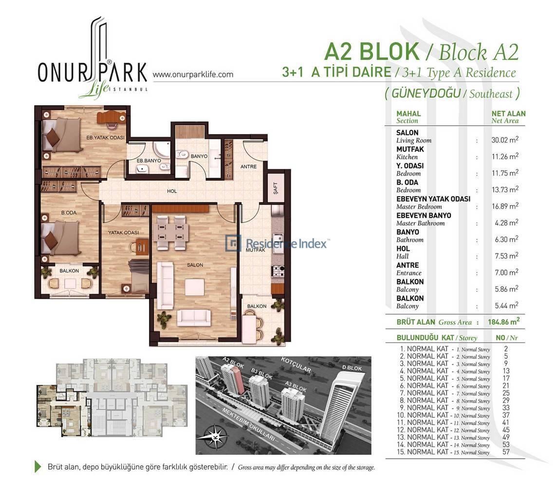 Onur Park Life A2 BL. B Tipi