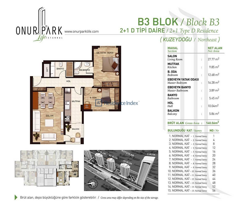 Onur Park Life B3 BL.D Tipi