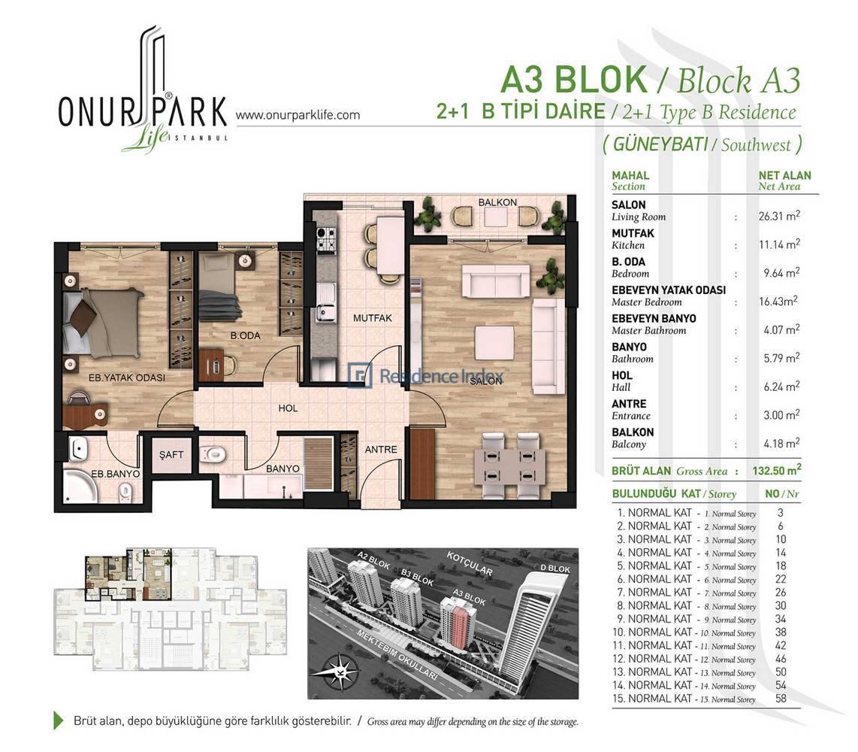 Onur Park Life A3 BL.B Tipi