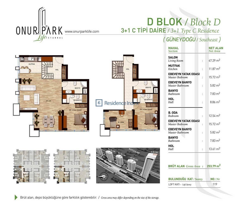 Onur Park Life D BL.C Tipi Dubleks