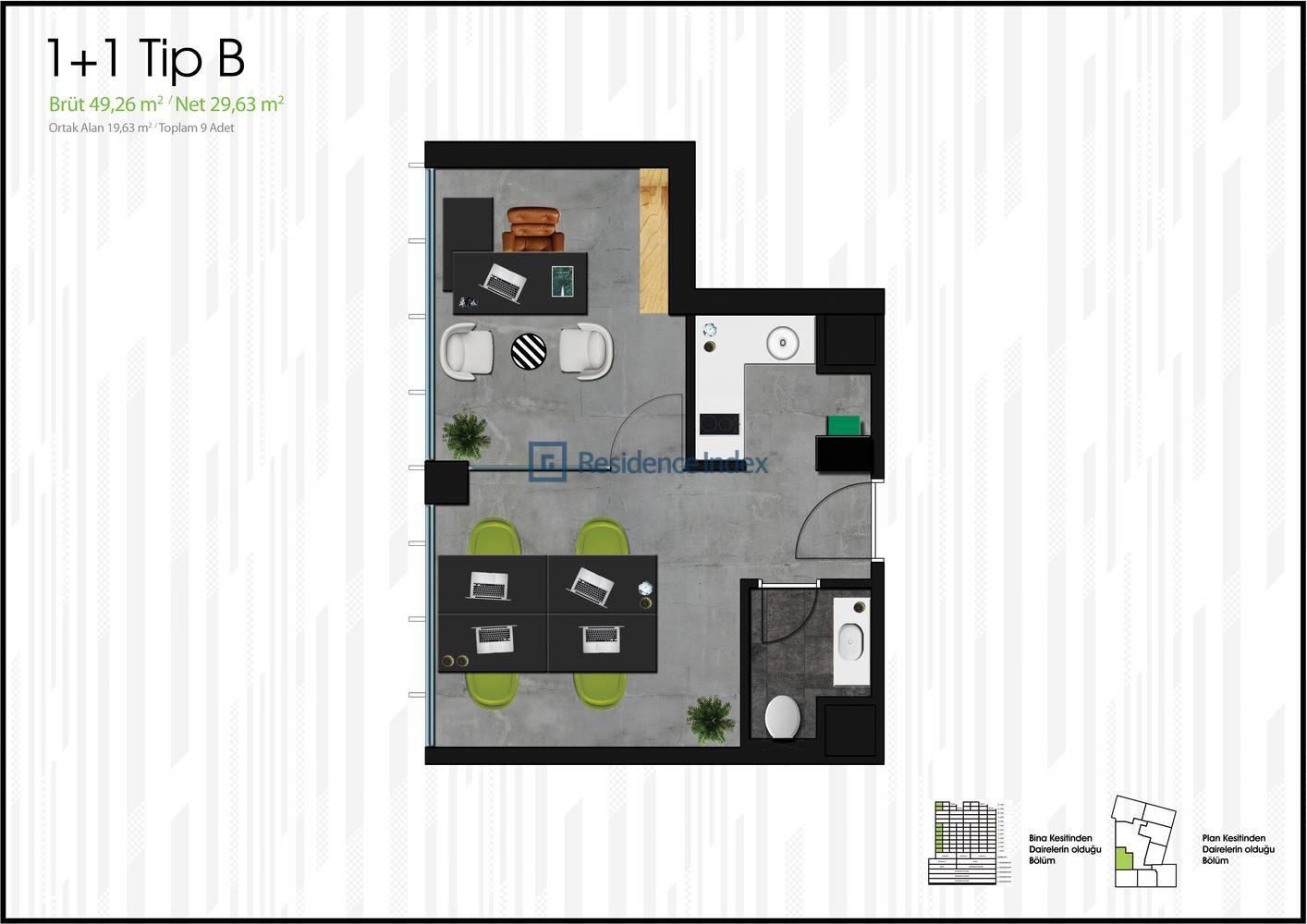 One Block Ümraniye B Tipi