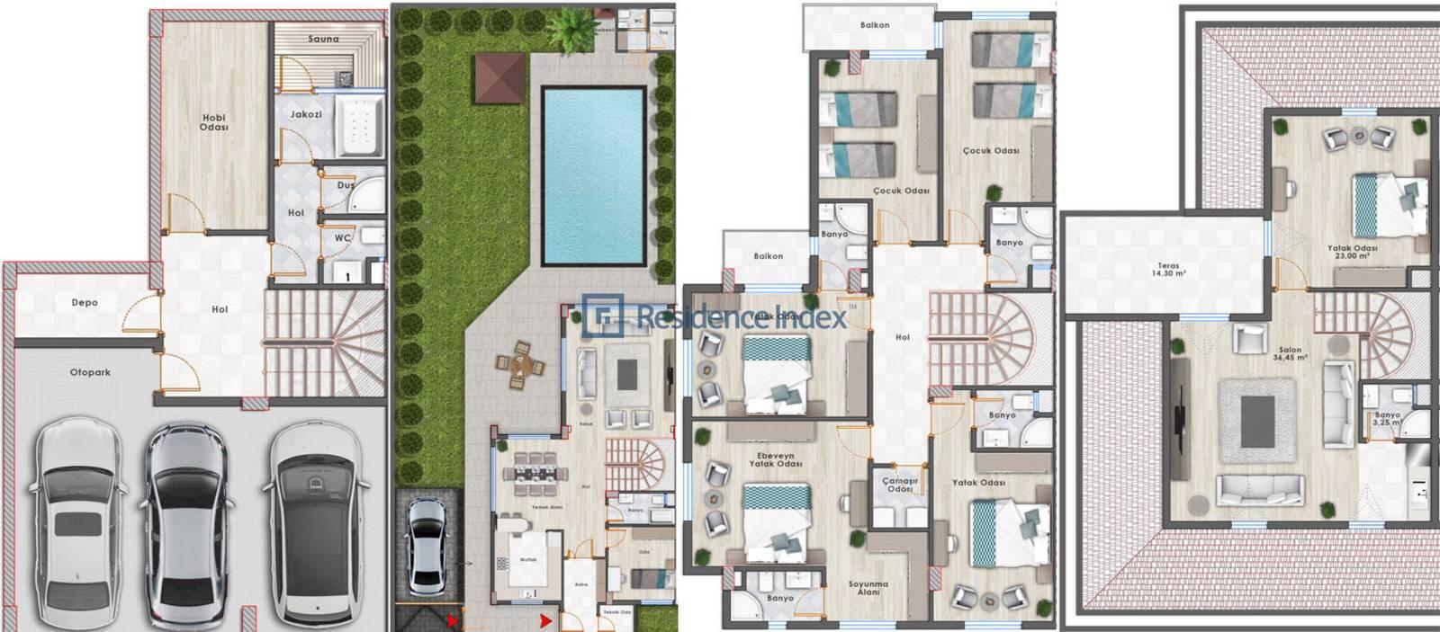 Mavera Villaları Kat Planı
