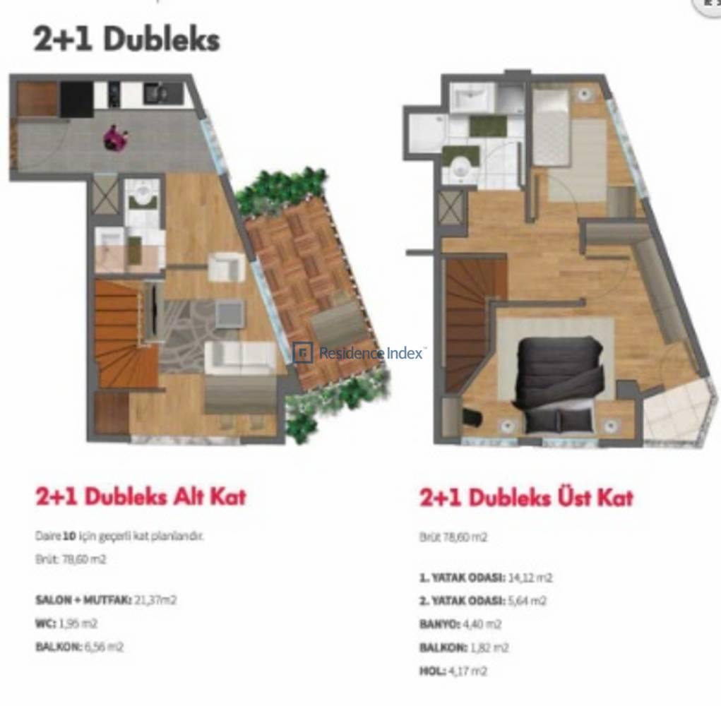 Double Flats  2+1 Dubleks