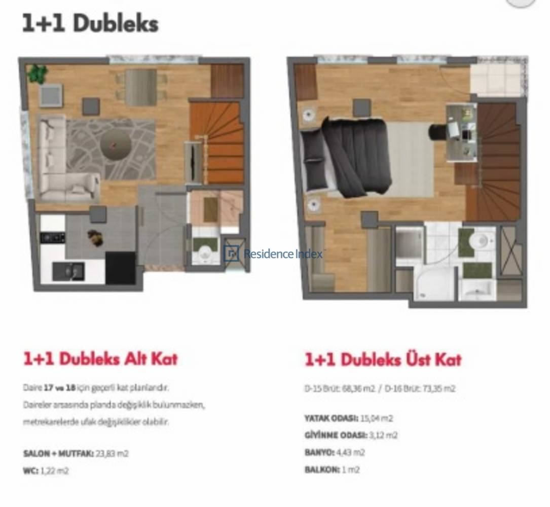 Double Flats  1+1 Dubleks